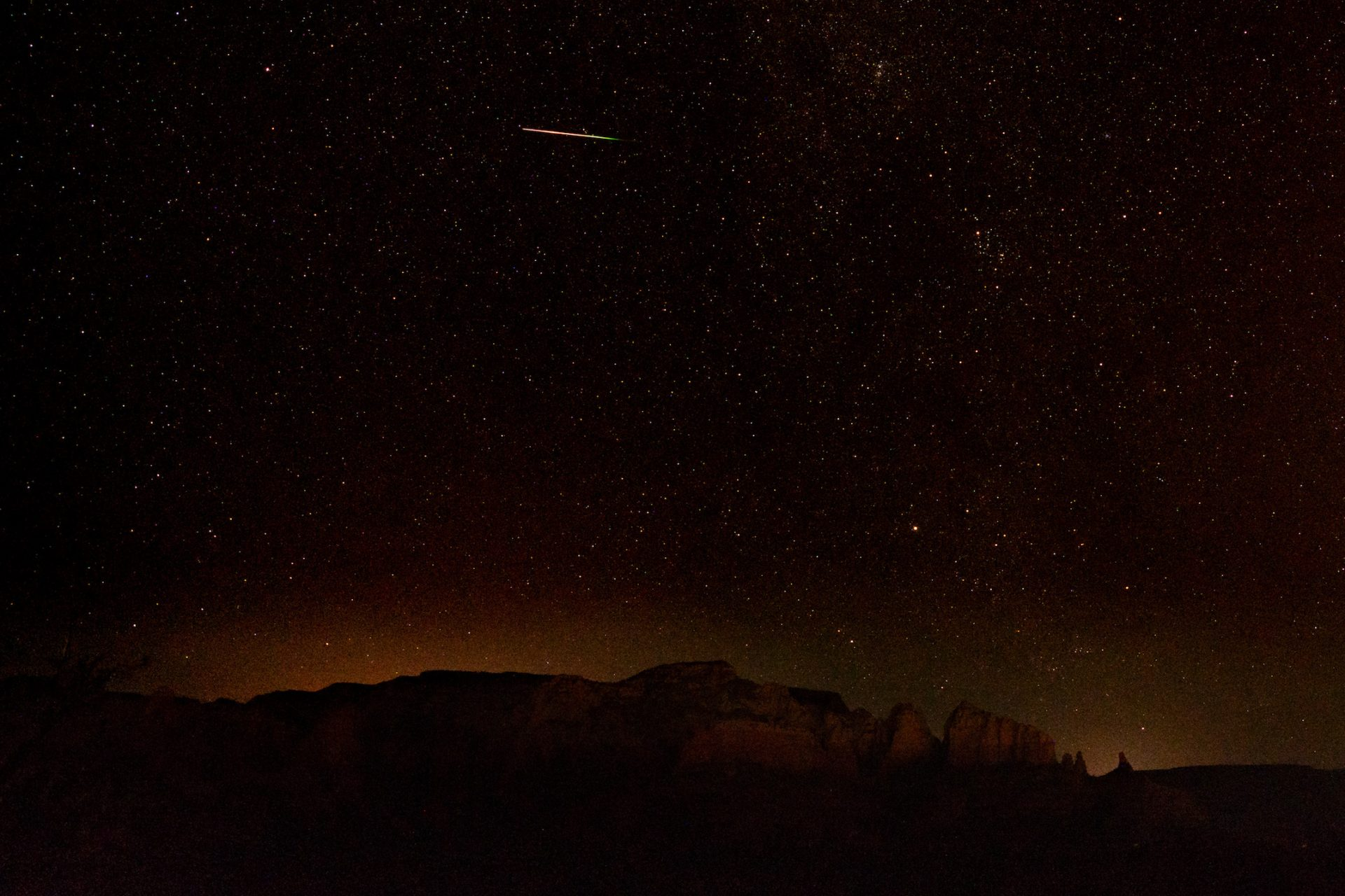 Perseids over Sedona – Arizona, 2018